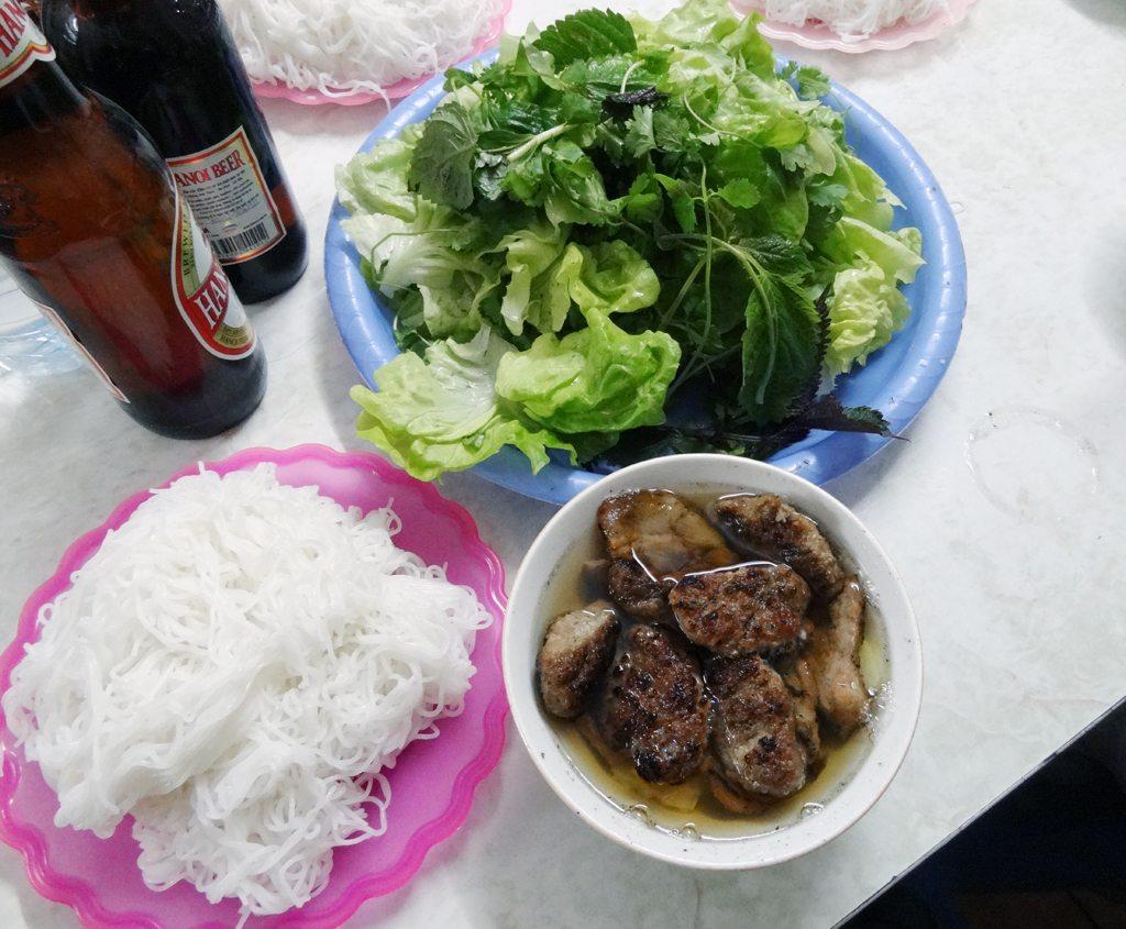 Bun Cha and Beer Ha Noi