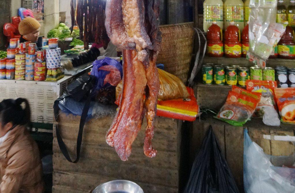 Dried Buffalo Hanging at Sapa Market