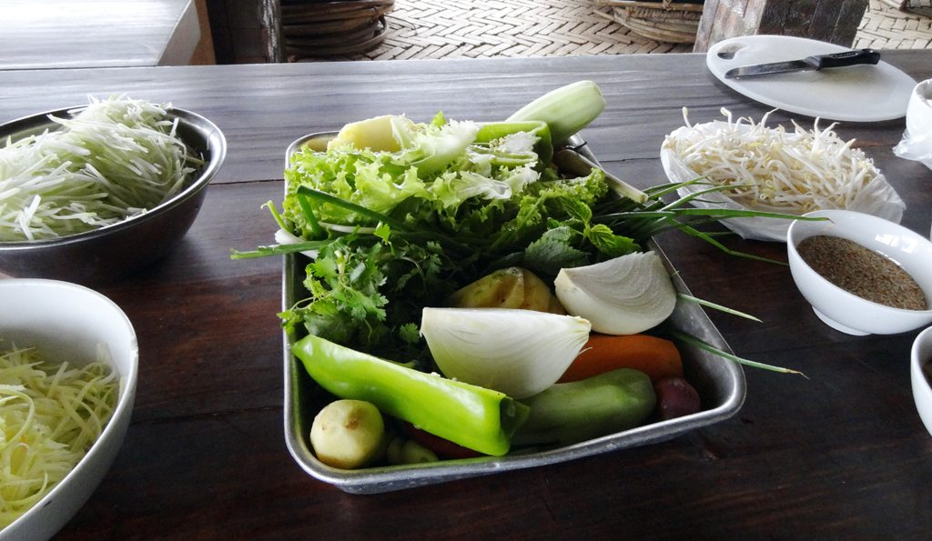 Fresh Ingredients for Sapa Cooking Class