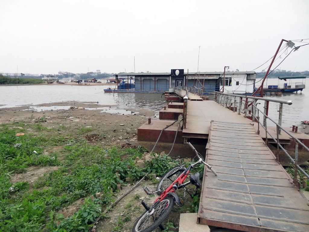 The Red River Running Alongside Hanoi