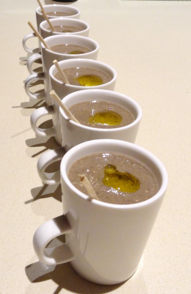 Mushroom Soup and Truffle Oil