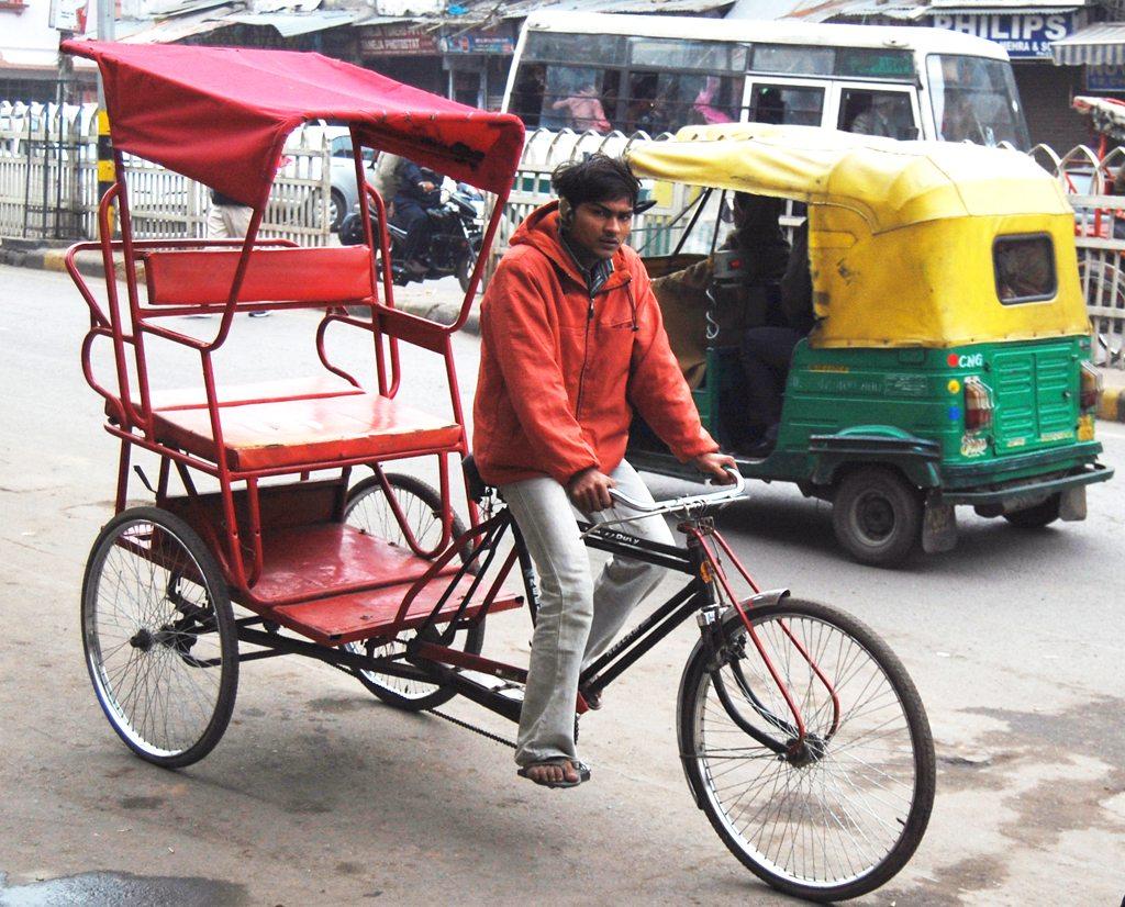 Attribution: Marcin Białek - Cycle Rickshaw in India