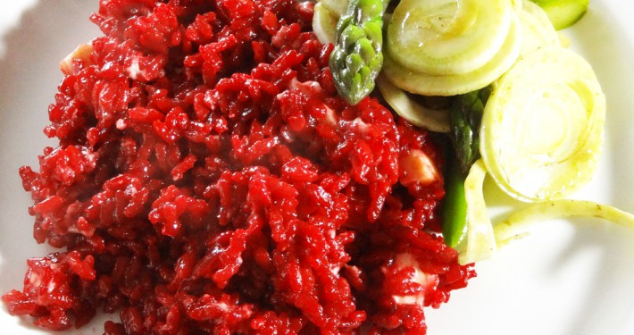 Beetroot and Wensleydale Risotto