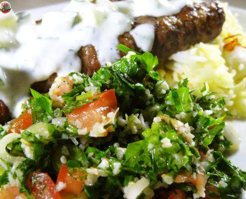 Chelo Kebab and Tabouleh
