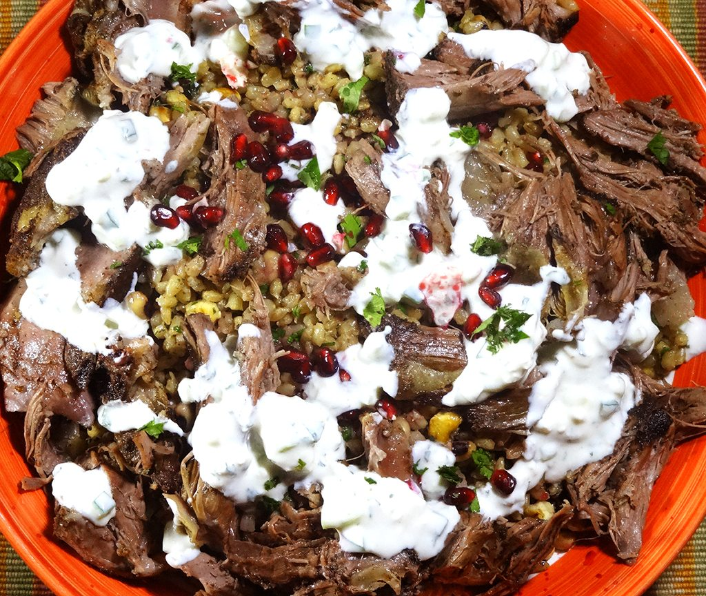 Braised Lamb and Pilaf