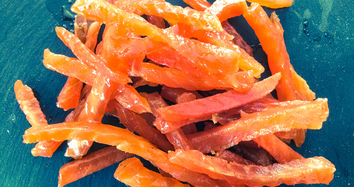 Maple Syrup Salmon Jerky