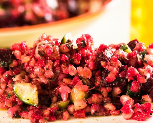 Beetroot, Blackeyed Peas and Pearl Barley Salad